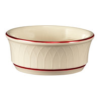 Homer Laughlin Gothic Maroon Jade 12.5 oz. Off White China Nappie Bowl - 24/Case
