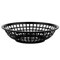 GET RB-820-BK 8 inch x 2 inch Round Black Plastic Fast Food Basket - 12/Pack