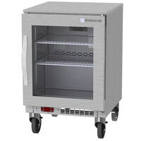 Beverage-Air UCF20HC-25 20 inch Shallow Depth Glass Door Undercounter Freezer
