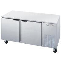 Beverage-Air UCF67AHC-25 67 inch Glass Door Undercounter Freezer