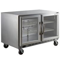 Beverage-Air UCF48AHC-25 48 inch Glass Door Undercounter Freezer