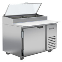 Beverage-Air DP46HC-CL-18 46 inch 1 Left-Hinged Door Clear Lid Refrigerated Pizza Prep Table