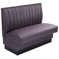 American Tables & Seating AS-3612-D Single Deuce 12 Channel Back Upholstered Booth - 36 inch High