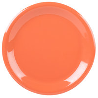 Carlisle 3300452 Sierrus 9 inch Sunset Orange Narrow Rim Melamine Plate - 24/Case
