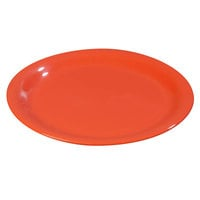Carlisle 3300452 Sierrus 9 inch Sunset Orange Narrow Rim Melamine Plate - 24/Case
