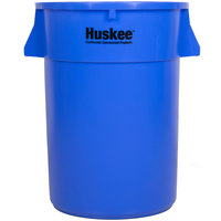 Continental 4444BL Huskee 44 Gallon Blue Trash Can