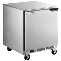 Beverage-Air UCF27HC-24 27 inch Shallow Depth Left-Hinged Door Undercounter Freezer