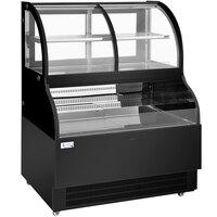 Avantco BCAC-48 48 inch Black Curved Dual Service Refrigerated Air Curtain Merchandiser - 110V