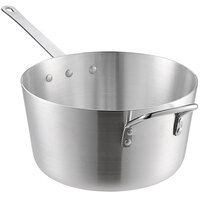 Choice 7 Qt. Tapered Aluminum Sauce Pan with Helper Handle