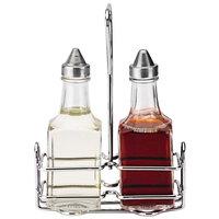 Vollrath 68028 Dripcut® 5 oz. 3-Piece Square Oil & Vinegar Cruet Set with Wire Rack