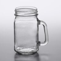 Acopa Rustic Charm 16 oz. Customizable Mason Jar / Drinking Jar with Handle - 12/Case
