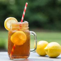 Acopa 16 oz. Customizable Mason Jar / Drinking Jar with Handle - 12/Case
