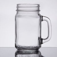 Core 16 oz. Mason Jar / Drinking Jar with Handle - 12/Case