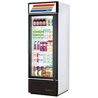 True GDM-23-LD White Glass Door Refrigerated Merchandiser with LED Lighting - 23 Cu. Ft.