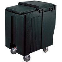 Cambro ICS175T110 SlidingLid Black Portable Ice Bin - 175 lb. Capacity Tall Model
