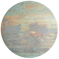Lancaster Table & Seating Excalibur 32 inch Round Table Top with Textured Canyon Painted Metal Finish