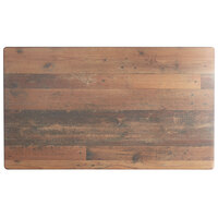 Lancaster Table & Seating Excalibur 28 inch x 48 inch Rectangular Table Top with Textured Farmhouse Finish