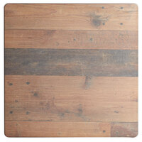 Lancaster Table & Seating Excalibur 28 inch x 28 inch Square Table Top with Textured Farmhouse Finish