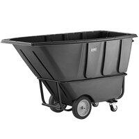 Lavex Industrial 1 Cubic Yard Black Heavy-Duty Tilt Truck / Trash Cart (2100 lb. Capacity)