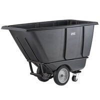 Lavex Industrial 0.5 Cubic Yard Black Heavy-Duty Tilt Truck / Trash Cart (1400 lb. Capacity)