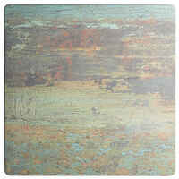 Lancaster Table & Seating Excalibur 28 inch x 28 inch Square Table Top with Textured Canyon Painted Metal Finish