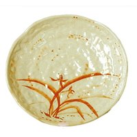 Thunder Group 1816 Gold Orchid 16 inch Lotus Shaped Melamine Plate - 12/Pack