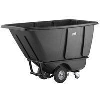Lavex Industrial 0.5 Cubic Yard Black Heavy-Duty Tilt Truck / Trash Cart (850 lb. Capacity)