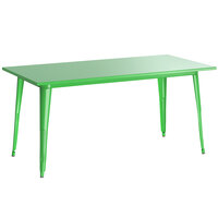 Lancaster Table & Seating Alloy Series 63 inch x 32 inch Green Dining Height Outdoor Table