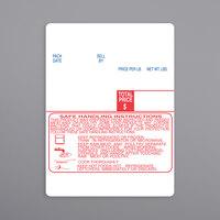 Digi 1504-S/H 60 mm x 80 mm White Safe Handling Pre-Printed Equivalent Scale Label Roll - 3/Case