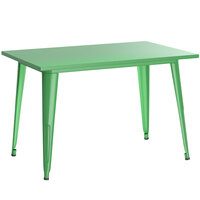 Lancaster Table & Seating Alloy Series 48 inch x 30 inch Green Dining Height Outdoor Table