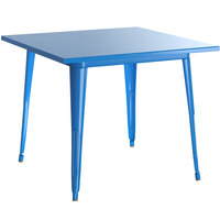 Lancaster Table & Seating Alloy Series 32 inch x 32 inch Blue Dining Height Outdoor Table