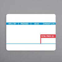 Ishida 1813 60 mm x 44 mm White Pre-Printed Equivalent Scale Label Roll - 12/Case