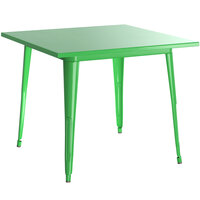 Lancaster Table & Seating Alloy Series 24 inch x 24 inch Green Dining Height Outdoor Table