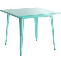 Lancaster Table & Seating Alloy Series 32 inch x 32 inch Seafoam Dining Height Outdoor Table