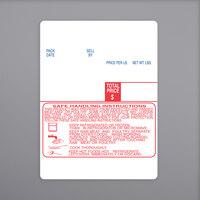 Digi 1537-S/H 60 mm x 80 mm White Safe Handling Pre-Printed Equivalent Scale Label Roll - 15/Case