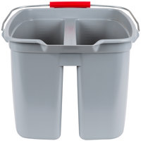 Rubbermaid FG262888GRAY 19 Qt. Divided Gray Bucket