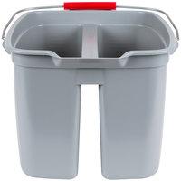 Rubbermaid FG262888GRAY28 19 Qt. Divided Gray Bucket