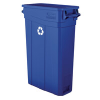Suncast TCNH2030BLR 23 Gallon Blue Slim Recycling Can with Handles