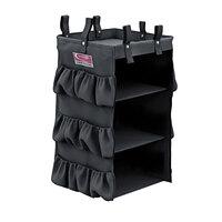 Suncast HKCBAG03D Black 3-Sided Hanging Bag with Shelves for Cleaning Carts