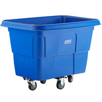 Lavex Industrial 8 Cubic Foot Blue Cube Truck (500 lb. Capacity)