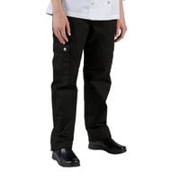 Chef Revival LP002BK Size XS Black Ladies Cargo Chef Pants - Poly-Cotton