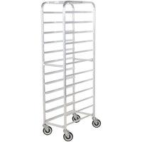 Winholt AL-1212 End Load Aluminum Platter Cart - Twelve 12 inch Trays