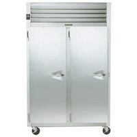 Traulsen G20015P 2 Section Solid Door Pass-Through Refrigerator - Left / Left Hinged Doors