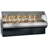 Alto-Shaam HN2SYS-96/PR S/S Stainless Steel Heated Display Case with Curved Glass and Base - Right Self Service 96 inch