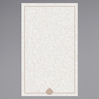 8 1/2 inch x 14 inch Menu Paper - Tan Shell Border - 100/Pack