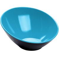 GET B-792-BL/BK Brasilia 24 oz. Blue and Black Melamine Bowl   - 6/Case