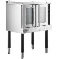 Main Street Equipment CG1L Single Deck Full Size Liquid Propane Convection Oven with Legs - 54,000 BTU