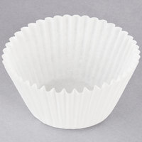 Hoffmaster 610070 2 1/4 inch x 1 7/8 inch White Fluted Baking Cup - 500/Pack