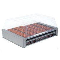 Nemco 8075SX Hot Dog Roller Grill with GripsIt Non-Stick Coating - 75 Hot Dog Capacity (120V)