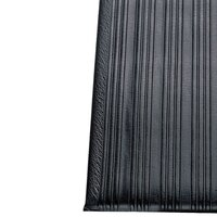 Ribbed Black Tredlite Vinyl Anti-Fatigue Mat 27 inch x 36 inch - 3/8 inch Thick
